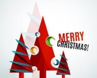 Progettazione geometrica dell'albero di Natale Fotografia Stock Libera da Diritti
