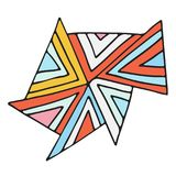 Progettazione geometrica dell'autoadesivo Stampa sveglia di vettore Immagine Stock