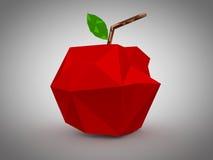 Progettazione geometrica della mela. illustrazione vettoriale