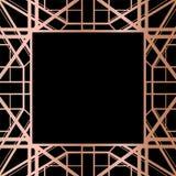 Progettazione geometrica della struttura di stile di Rose Gold Gatsby Art Deco royalty illustrazione gratis