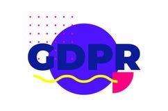 Progettazione geometrica di protezione dei dati dell'estratto generale di regolamento Immagine Stock Libera da Diritti