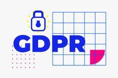 Progettazione geometrica di protezione dei dati dell'estratto generale di regolamento Immagini Stock Libere da Diritti