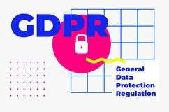 Progettazione geometrica di protezione dei dati dell'estratto generale di regolamento Fotografia Stock