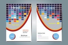 Progettazione geometrica di vettore della struttura dell'illustrazione dell'opuscolo Immagine Stock Libera da Diritti