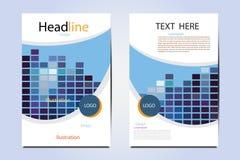 Progettazione geometrica di vettore di tecnologia dell'illustrazione dell'opuscolo Immagini Stock Libere da Diritti