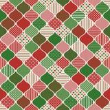 Progettazione geometrica grafica dell'ornamento di Natale Fotografia Stock Libera da Diritti