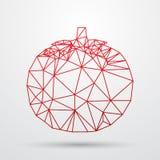 Progettazione geometrica poligonale astratta del triangolo Linea illustrazione di Colorfuul di vettore Fotografia Stock