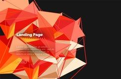 Progettazione geometrica poligonale, forma astratta fatta dei triangoli, fondo d'avanguardia Fotografia Stock Libera da Diritti