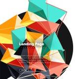 Progettazione geometrica poligonale, forma astratta fatta dei triangoli, fondo d'avanguardia Fotografie Stock Libere da Diritti