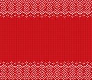 Progettazione geometrica tricottata dell'ornamento di natale con spazio vuoto per testo Reticolo senza giunte di festa illustrazione di stock