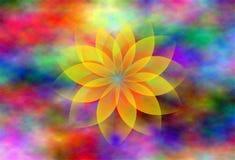 Progettazione gialla del fiore Immagine Stock