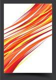 Progettazione gialla della copertura dell'opuscolo del modello royalty illustrazione gratis