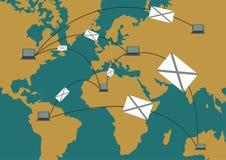 Progettazione globale di traffico Trasporto di comunicazione Rete Conne Immagini Stock Libere da Diritti