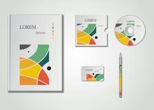 Progettazione grafica astratta, illustrazione di vettore Immagini Stock