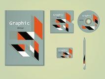 Progettazione grafica astratta, illustrazione di vettore Fotografie Stock Libere da Diritti