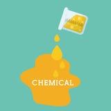 Progettazione grafica del laboratorio chimico, illustrazione di vettore Fotografie Stock Libere da Diritti
