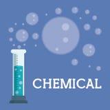 Progettazione grafica del laboratorio chimico, illustrazione di vettore Fotografie Stock