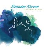 Progettazione grafica del Ramadan royalty illustrazione gratis