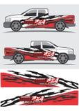 Progettazione grafica della decalcomania del veicolo e del camion Immagine Stock Libera da Diritti