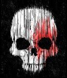 Progettazione grafica della maglietta del cranio royalty illustrazione gratis