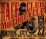 Progettazione grafica della maglietta del motociclo illustrazione vettoriale