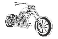 Progettazione grafica della maglietta dell'illustrazione della motocicletta illustrazione vettoriale