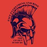 Progettazione grafica della maglietta di logo di Vichingo Immagine Stock Libera da Diritti