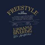 Progettazione grafica della maglietta di skateboarding - vettore Fotografia Stock Libera da Diritti