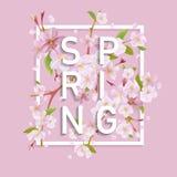 Progettazione grafica della primavera floreale Immagine Stock Libera da Diritti