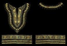 Progettazione grafica di Dashiki della stagnola africana tradizionale del modello royalty illustrazione gratis