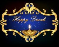 Progettazione grafica di Diwali, diya sul fondo di festa di Diwali illustrazione vettoriale