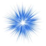 Progettazione grafica di esplosione blu su fondo bianco Immagine Stock