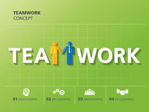 Progettazione grafica di informazioni, lavoro di squadra Immagine Stock Libera da Diritti