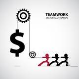 Progettazione grafica di lavoro di squadra Immagine Stock Libera da Diritti
