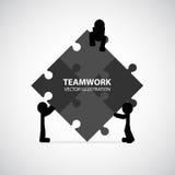 Progettazione grafica di lavoro di squadra Immagini Stock
