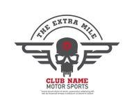 Progettazione grafica di logo del motore illustrazione di stock