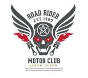 Progettazione grafica di logo del motore logo, autoadesivo, etichetta, braccio illustrazione vettoriale
