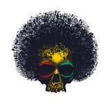 Progettazione grafica di reggae del cranio Fotografia Stock