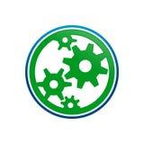 Progettazione grafica di simbolo di World Motion Cogwheel dell'ingegnere royalty illustrazione gratis