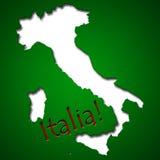 Progettazione grafica nella forma del paese dell'Italia Fotografia Stock