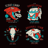 Progettazione grafica per la maglietta Immagini Stock