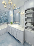 Progettazione graziosa di art deco del bagno Immagine Stock
