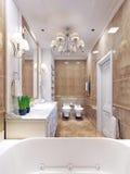 Progettazione graziosa di art deco del bagno Immagine Stock Libera da Diritti