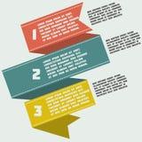 Progettazione graziosa infographic con le figure con ribb Fotografia Stock Libera da Diritti