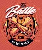 Progettazione hip-hop del manifesto di battaglia illustrazione vettoriale