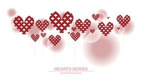Progettazione II di serie del cuore dell'illustrazione di vettore Fotografia Stock
