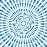 Progettazione illustrata fondo astratto nel colore blu Immagine Stock Libera da Diritti
