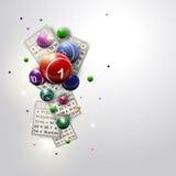 Progettazione Iluustration delle palle e di carte di bingo Immagine Stock