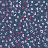 Progettazione impressa del cuore Materiale illustrativo di tema di San Valentino illustrazione di stock