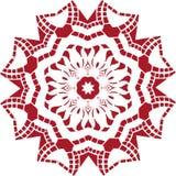 Progettazione indiana etnica dell'illustrazione della mandala Immagini Stock Libere da Diritti